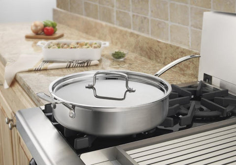 Cuisinart MultiClad Pro 5.5 qt. Sauté Pan with Helper Handle & Lid