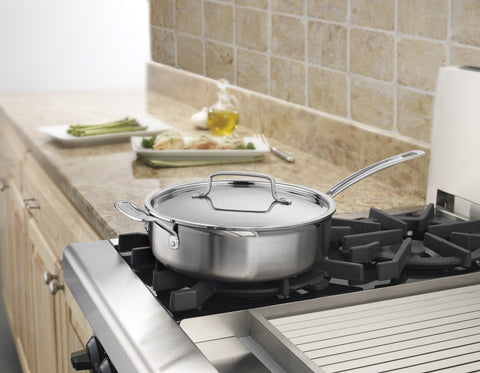 Cuisinart MultiClad Pro 3.5 qt. Sauté Pan with Helper Handle & Lid