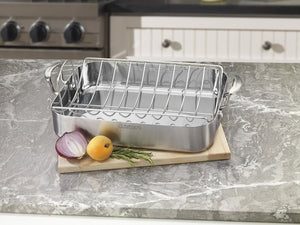 "Cuisinart Multiclad Pro 16"" Rectangular Roaster with Rack"