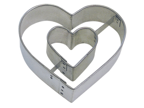 R&M Heart In Heart Cookie Cutter, 3""