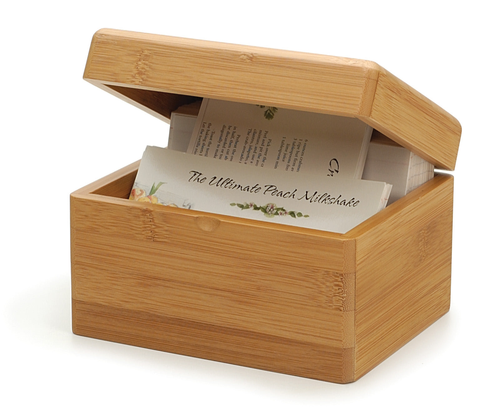 RSVP Bamboo Recipe Box