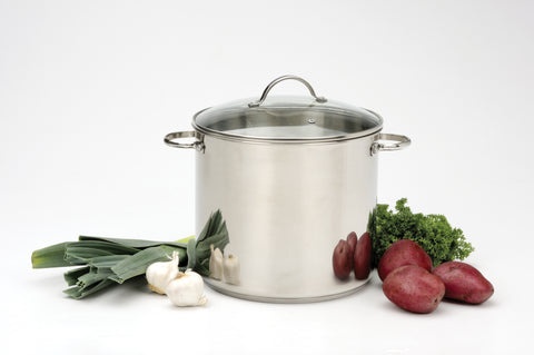 RSVP Stainless Steel Stockpots, 12qt