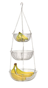 RSVP Hanging Basket, Woven Chromed Wire