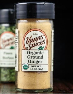 Vann's Spices Organic Ginger, Ground