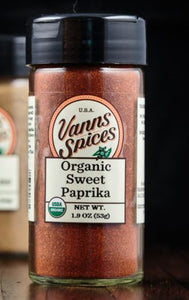 Vann's Spices Organic Paprika, Sweet