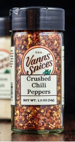 Vann's Spices Organic Chili Peppers, Crushed