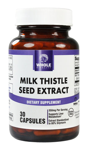 Milk Thistle Seed Extract, Liver Health Supplement, 30 Capsules