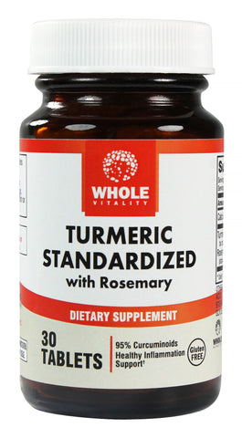 Turmeric Curcumin Extract Supplement, with Rosemary, 30 Veggie Tablets