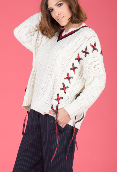 d45b17fc08 SIDE TIE KNIT SWEATER – The Store Brands