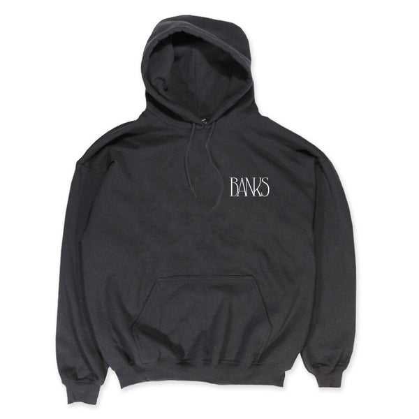 BANKS LOGO BLACK PULL ON HOODIE