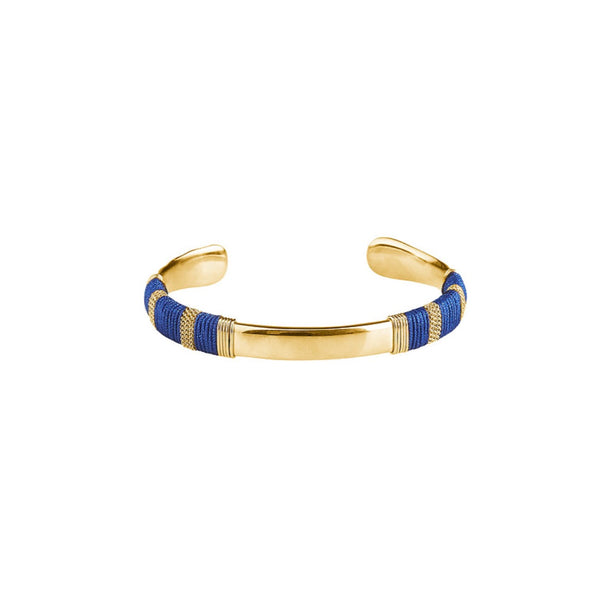 Plissé Copenhagen Summer Bangle gold/blue