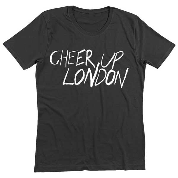 BLACK CHEER UP LONDON T-SHIRT