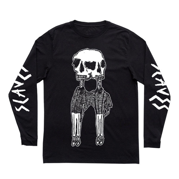 CONJOINED SKELETON BLACK L/SLEEVE