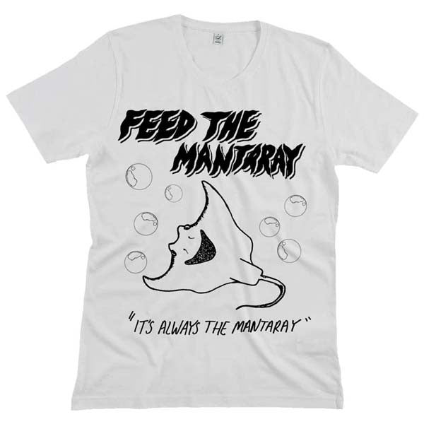 WHITE MANTARAY T-SHIRT