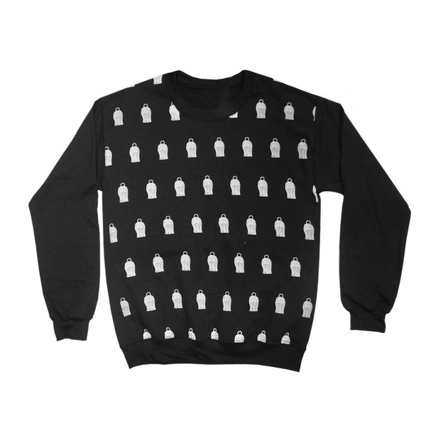 BALACLAVA ALL OVER PRINT BLACK SWEATSHIRT