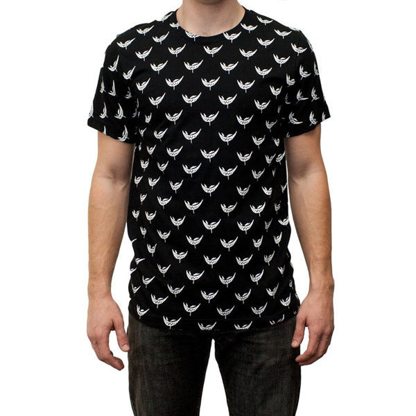 Feed Me // Black and White All Over Print Shirt