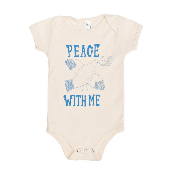 Peace Begins With Me Organic Onesie