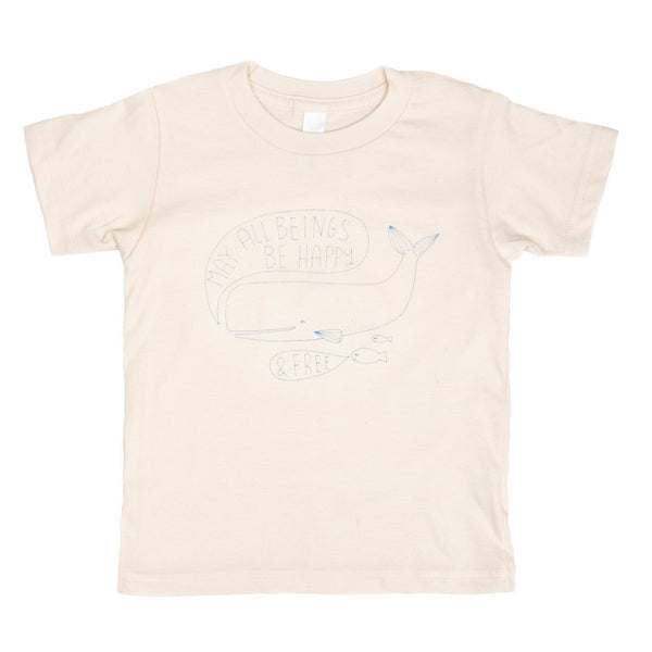 May All Beings Be Happy & Free Organic Kids' Tee