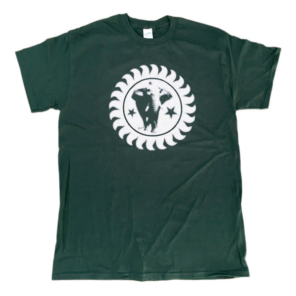This Tee features the Brand New Heavies logo in white on a green background.