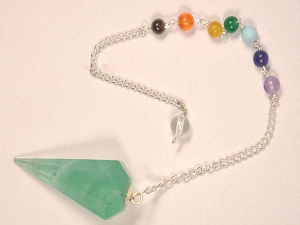 Green Flourite  Pendulums with Chakra Chain