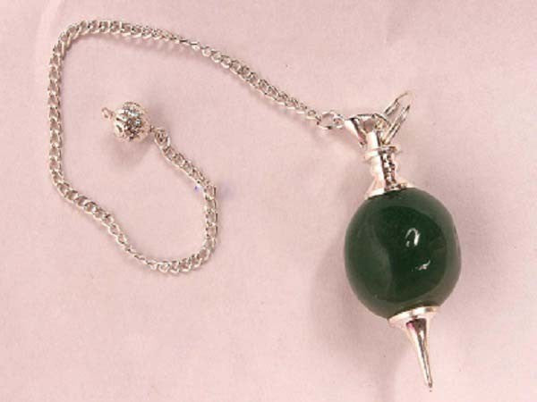 Green Mica Zade Ball Pendulum