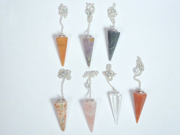 Mix Stone Plain Cone Facetted Pendulums