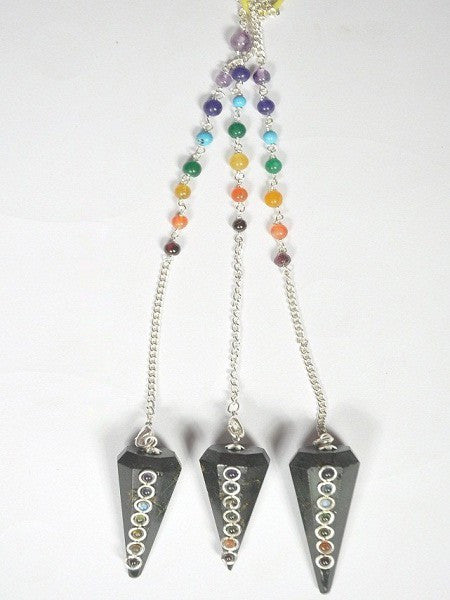 Black Tourmuline Pendulum With 3 mm Cab