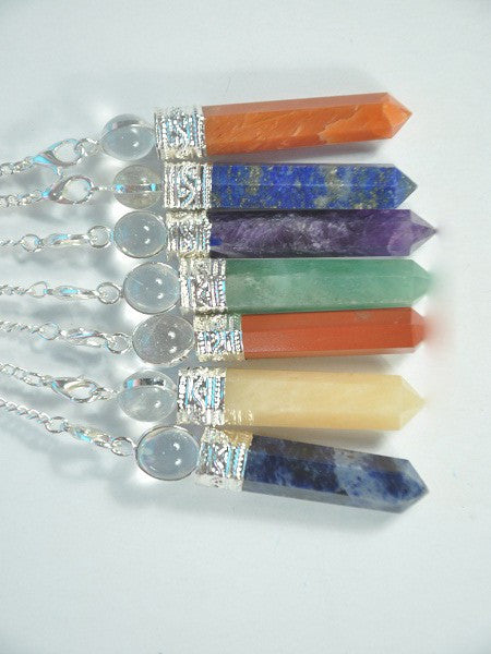 Point  Pendant with Crystal Beads