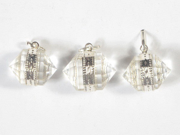 Clear Crystal Quartz Herkimer Diamonds Pendant
