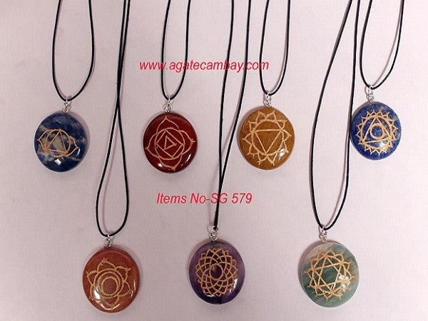 Chakra Engrave Necklace Set