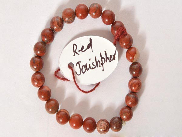 Red Jasper-8 mm Bead Bracelet