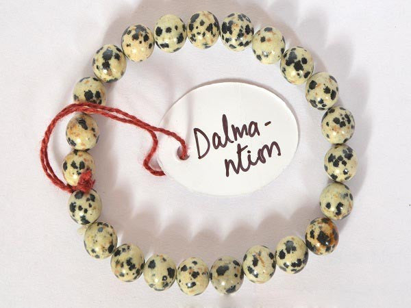 Dalmantion Jasper-8 mm Bead Bracelet :--Rs.140