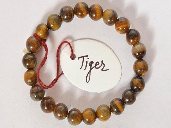 Tiger Eye-8 mm Bead Bracelet