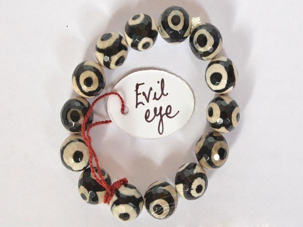 Evil Eye Natural Stone Bracelet-10 mm beads