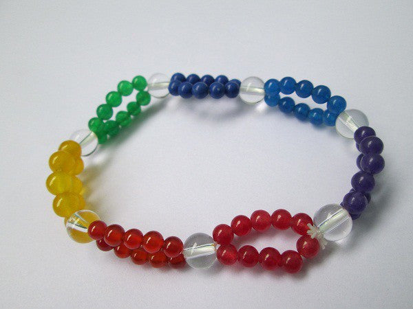 Chakra Bracelet with clear quartz beads