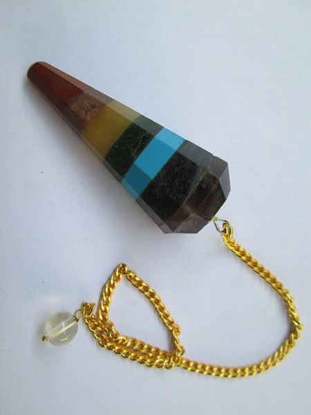 Chakra Bonded Pendulums with gold chain