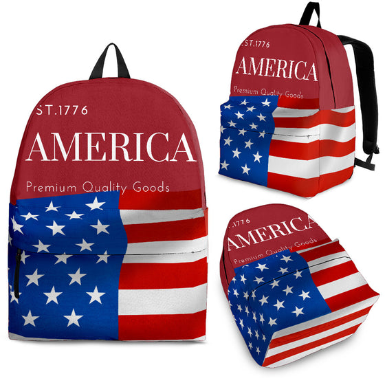 Red AMERICA Backpack