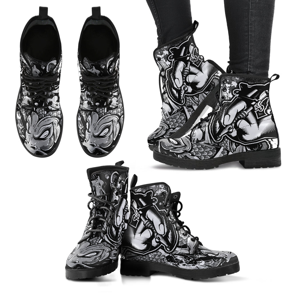 Tattoo Women's Leather Boots