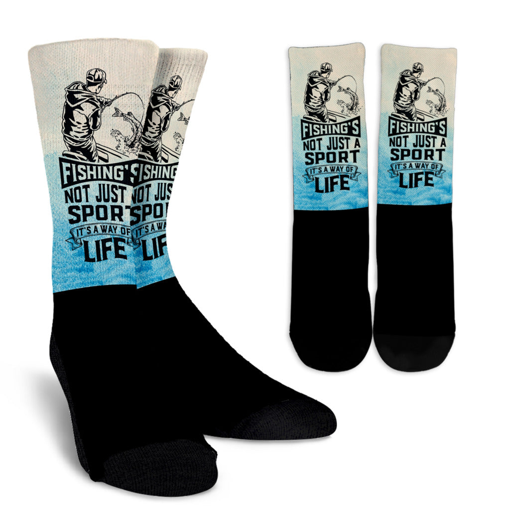 Fishing's Not Just a Sport Crew Socks