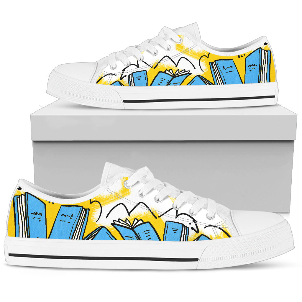 Books blue Women's Low Top Shoe
