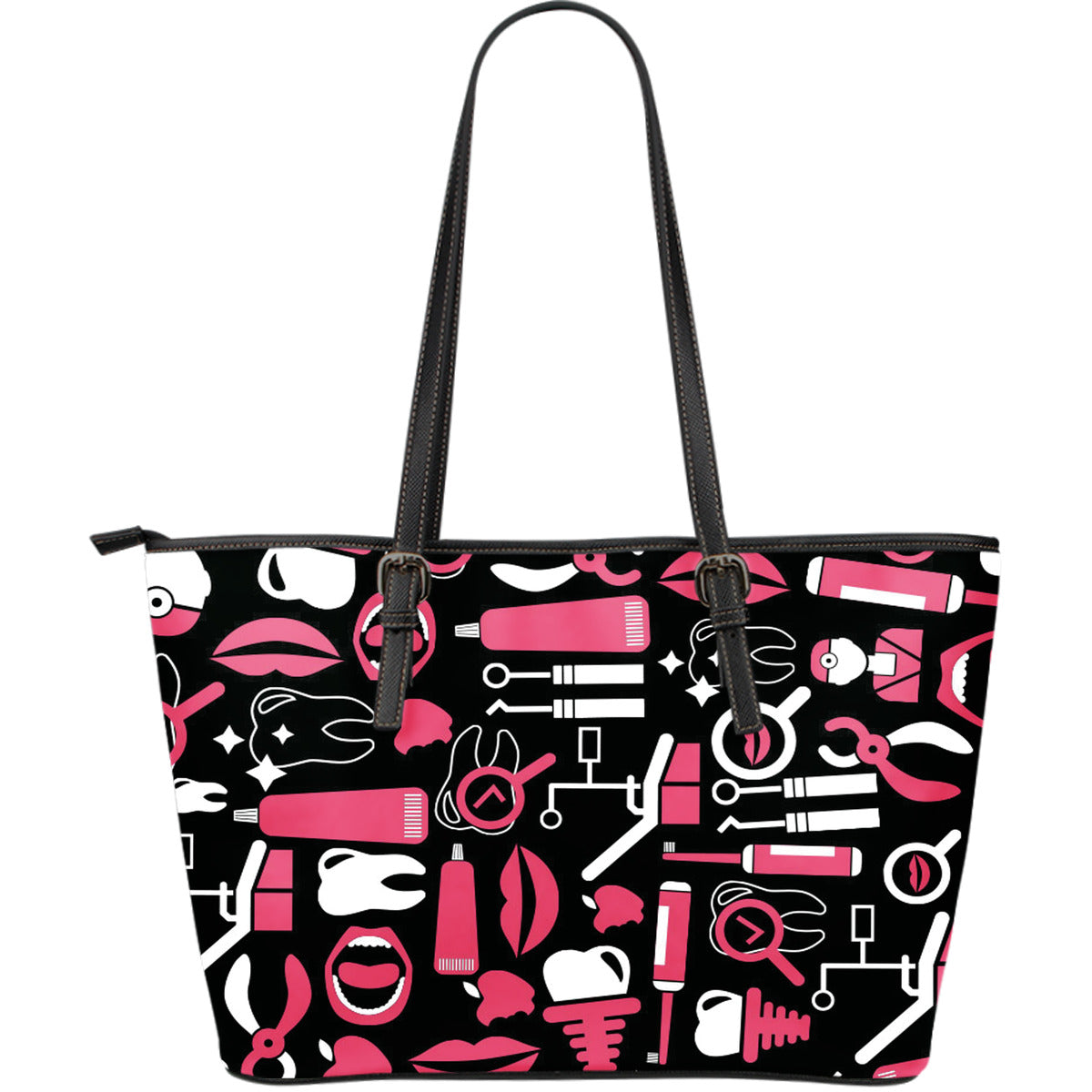 Dental Hygienist Large Leather Tote Bag
