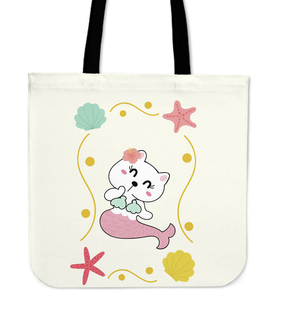 KITTY-MERMAID TOTE BAG