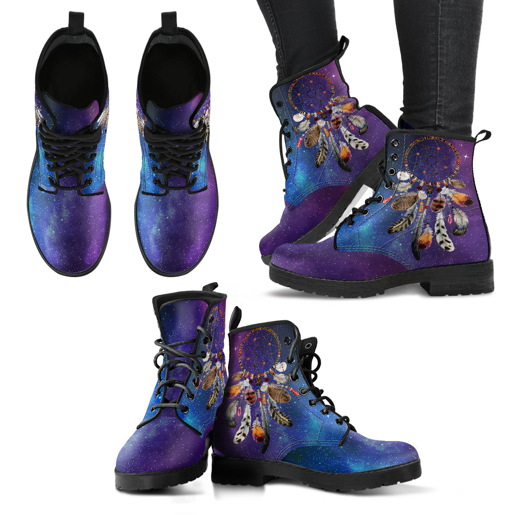 Dream Catcher Galaxy Women's Leather Boots
