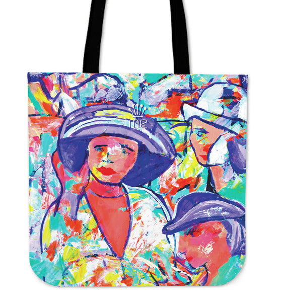 Girl with purple hat Tote bag