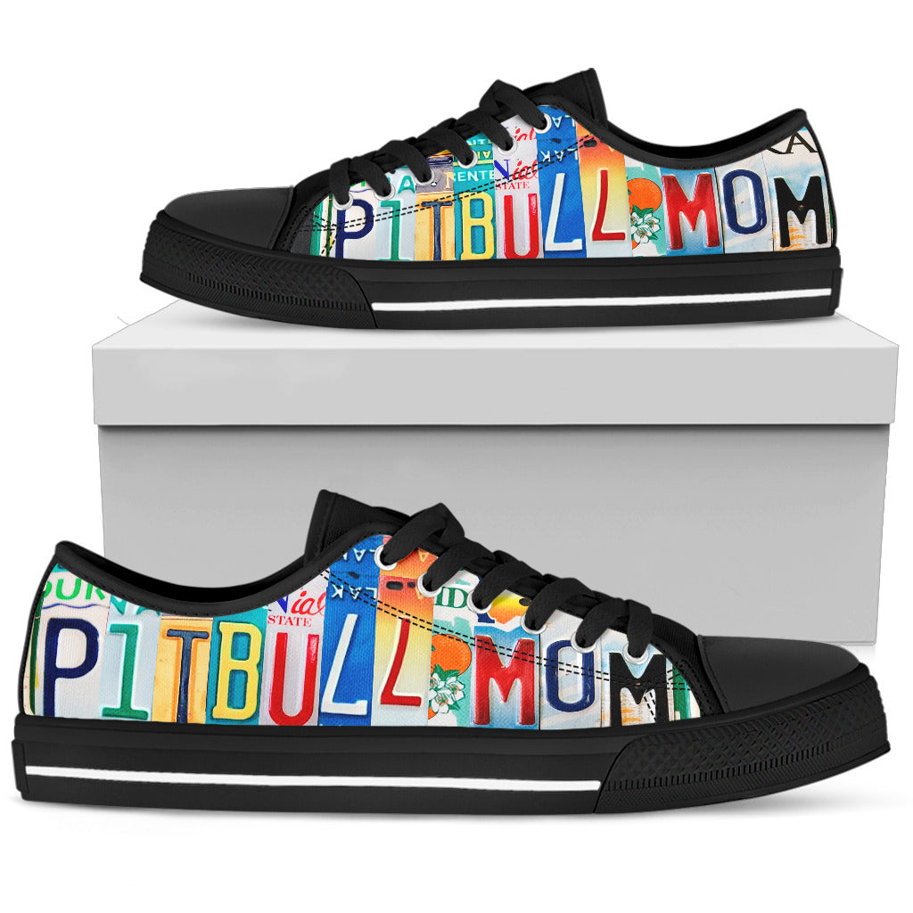 Pitbull Mom Low Top
