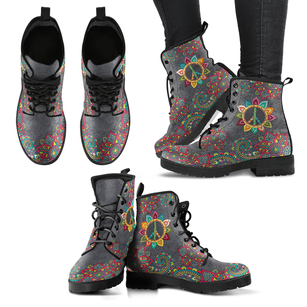 Peace and Henna Women's Leather Boots
