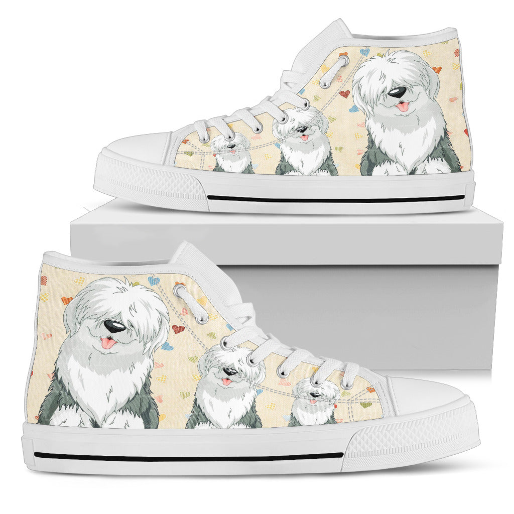 OLD ENGLISH SHEEPDOG HIGH TOP WOMEN