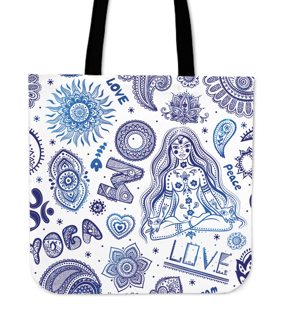 Yoga Love Tote Bag