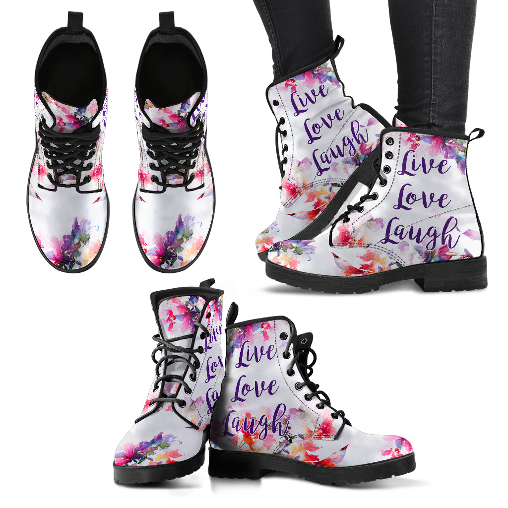 Live Love Laugh Women's Leather Boots
