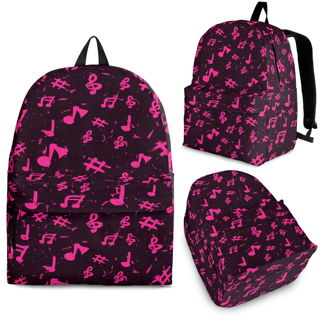 Pink Music Note Backpack
